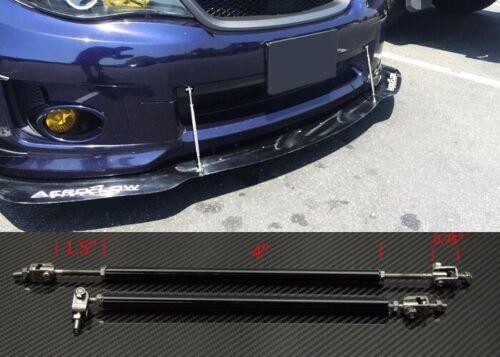 "Black 8/""-11/""  Struts Shock Rod Bar for Audi BMW Bumper Lip Diffuser Spoiler"