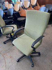 Executive Hb Swivel Chair By Steelcase Office Furniture In Designer Green Fabric