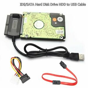 USB to SATA Hard Drive Cable Serial ATA I II III 2.5 3.5 HDD SSD Power Adapter