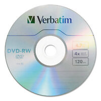 Verbatim Dvd-rw 4.7gb 4x 30/pk Spindle 95179 on sale