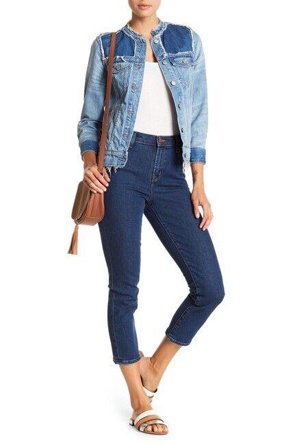 248 J Brand Size 29 Ruby High Waist Crop Cigarette Jean A1