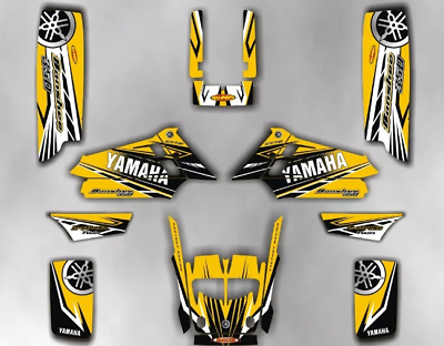 yamaha banshee 350 50 anniversary full graphics decals yellow thickness