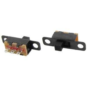 50-Pcs-ON-ON-2-Position-1P2T-SPDT-Mini-Panel-Slide-Switch-Solder-Lug-SS12F1-Z3R4