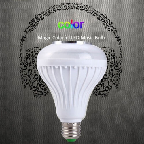 LED Wireless Bluetooth Bulb Light Speaker 12W RGB Smart Music Play Lamp+Remote /%