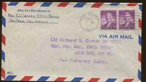1946-San-Pedro-California-General-Headquarters-Supreme-Commander-Air-Mail-Cover