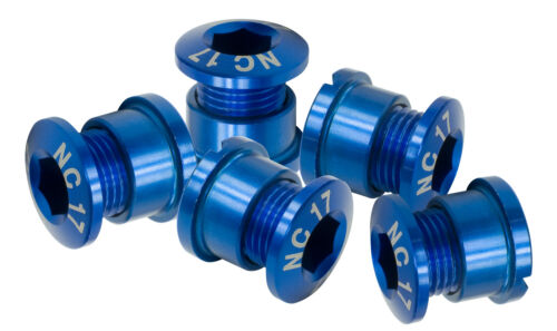 NC-17 Kettenblattschraube 5 Loch Set blau