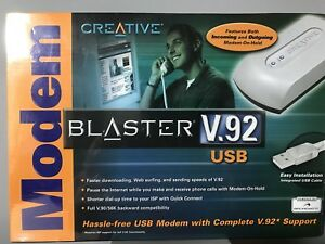 CREATIVE MODEM BLASTER V.92 USB WINDOWS VISTA DRIVER