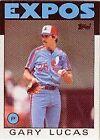 1986 Topps Gary Lucas #601 Baseball Card