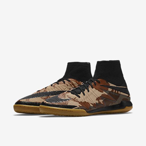 Nike hypervenomx Mauricio Augusto  se IC Camo Zapato de fútbol Indoor Talla 8.5 Edición Limitada