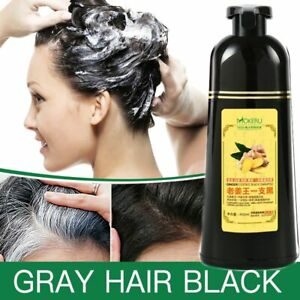 Natural-Fast-Hair-grow-Shampoo-Ginger-Hair-Dye-Permanent-Black-Hair-women-men-FR