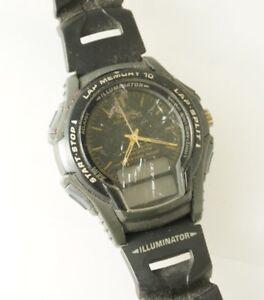 Casio-Men-039-s-WS300-Analog-Digital-Dial-Watch-Black-Resin-Band-10-Lap-Memory