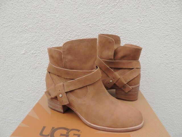 3544992b650967 UGG Elora Chestnut Suede Ankle Wrap BOOTS Women US 10/ EUR 41 for ...
