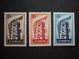 Lussemburgo LUXEMBOURG EUROPA CEPT 1956 Mer 555-557 **, splendore!!! (kW: 240,00 €)