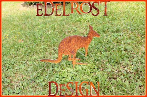 EDELROST Känguru Wallaby Tier Skulptur Rost Gartendeko Metall Edel Kunst Deko