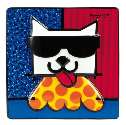 """Porzellan Prächtiges Reliefbild 3D ROMERO BRITTO /""""LA CAT/"""" Katze"""