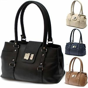 New Medium Womens Shoulder Day Bags Leather Style Ladies ...