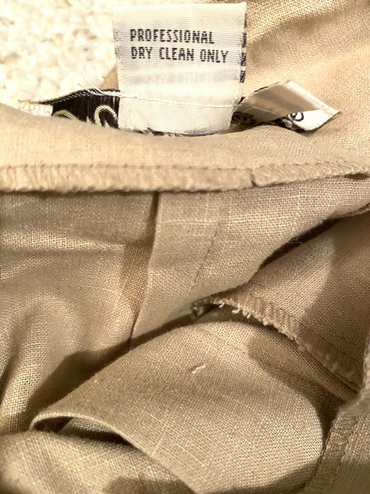 MARIE ST. CLAIRE Vintage Beige PLEATED Skort With… - image 5