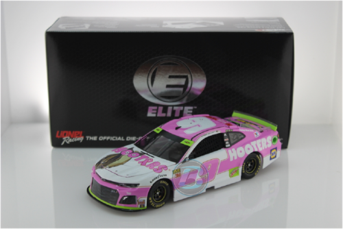 AUTOGRAPHED CHASE ELLIOTT 2019 GIVE A HOOT PINK  HOOTERS  1//24 ELITE
