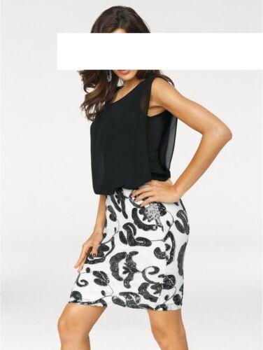 Neu Brooke Ashley Kleid 42 Größe Designer Pailletten Von xf08IB