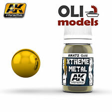 Xtreme Metal GOLD METALIC PAINT 30ml Bottle - AK Interactive 472