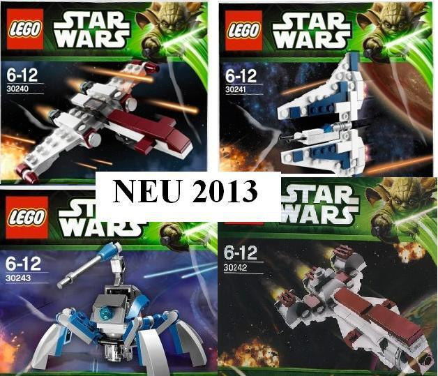 4xLEGO Star Wars 2013 Mandalor Z95 Frigate Umbarran Art. 30240 30241 30242 30243