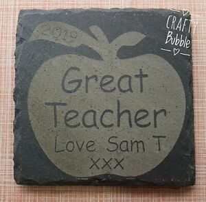 Engraved-slate-personalised-thank-you-teacher-coaster