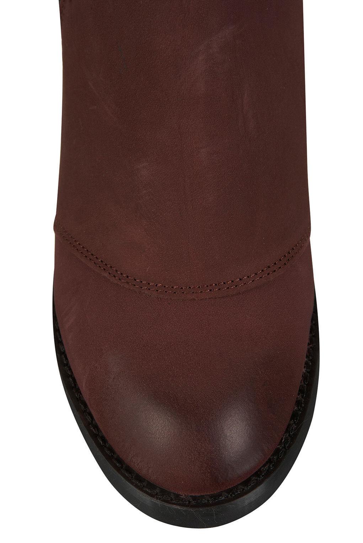 New TOPSHOP MIGHTY Leder zip Bordeaux Stiefel UK 8 in Bordeaux zip fe6dc3