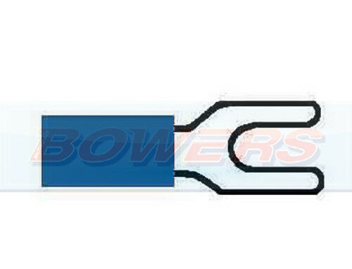 2.5MM² CABLE 50PK PACK BLUE FORK TERMINAL CONNECTOR PUSH ON 3.5MM 1.5MM