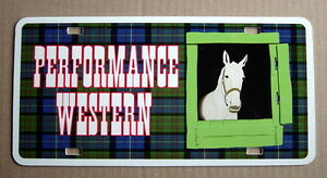 UNUSED-AUTO-PLATE-PERFORMANCE-WESTERN-HORSE