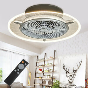 Ceiling-Fan-With-Light-kit-and-Remote-Control-LED-Transparent-Lamp-Dimmable-USA