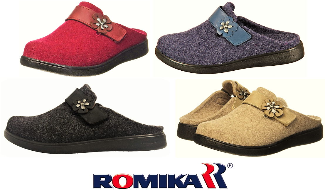 femmes indoor outdoor felt comfort slipper - Gomera 03 by Romika chaussures Germany