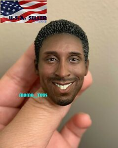 """1//6 LeBron James Rooted Mustache Head For 12/"""" Enterbay Hot Toys PHICEN Figure"""