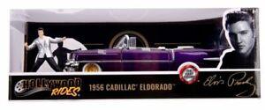 JADA 30985 ELVIS PRESLEY CADILLAC ELDORADO 1956 model car with figure 1:24th