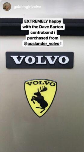 """2 PAIR of GENUINE Prancing Moose VOLVO 3"""" Traditional Vinyl Adhesive Decal"""