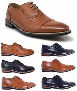 8ea3e59e9d0d Parrazo Men Dress Shoes Wingtip Oxford Leather Lined Lace Up Black ...