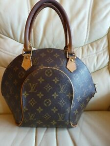 Image is loading Louis-Vuitton-Leather-Ellipse-Bag-Handbag-100-Genuine- 11bdd91abb34c