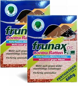 Frunax DS Contra Ratten 25 ppm, 2 x 600 g erfolgreich Ratten und Mäusebekämfung