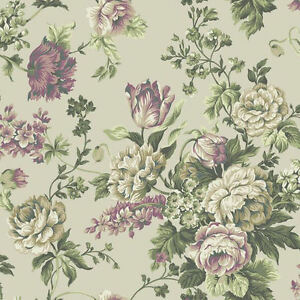 York-English-Garden-Inspired-Wallpaper-on-Pearlized-Sage-PR9003-Double-Roll