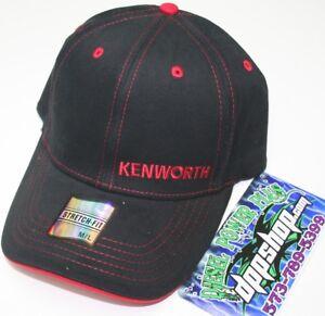 8545b32cbe8d9d kenworth Stretch fit fitted back ball cap KW flex trucker hat bunk ...