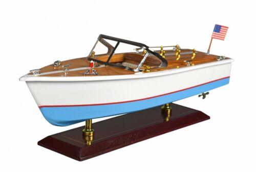 Modellboot Amerikanisches Speedboot Standmodell Holzmodell Modellschiff Boot