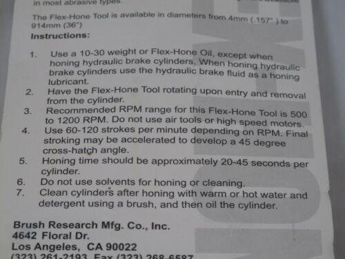 "1 NEW 2-5//8/"" 240 grit Flexible Cylinder Hone Bore Diameter Ball Engine Flex"