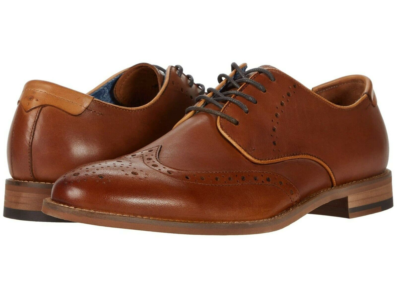 Men's Johnston & Murphy Milliken Leather Wingtip Shoes, 20-5816 Multi Sizes Tan