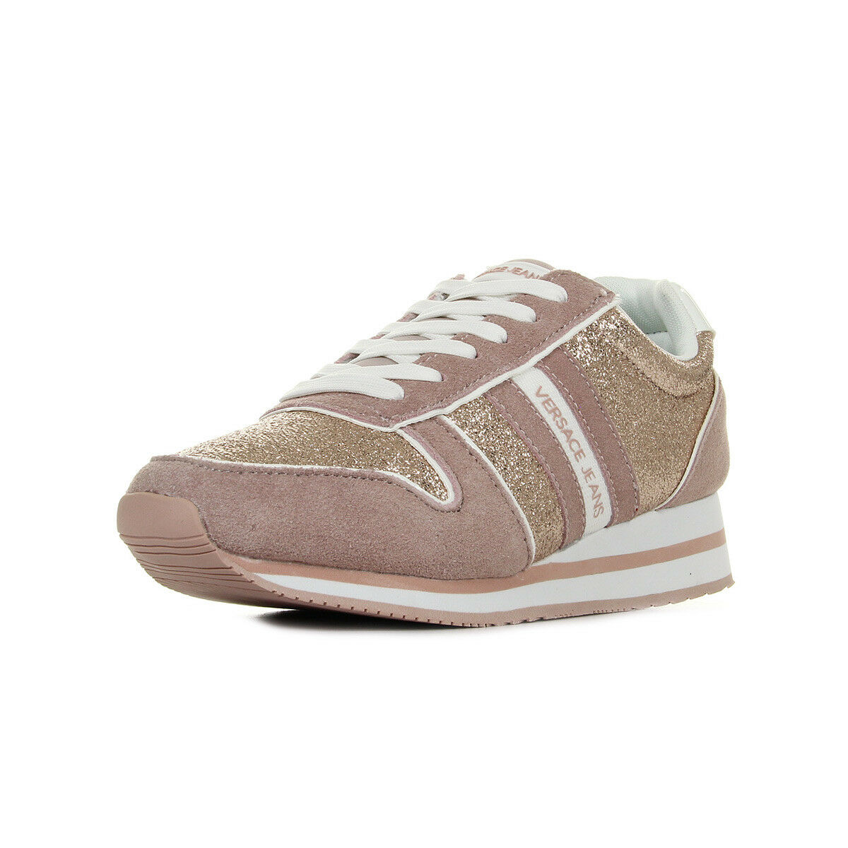 Chaussures Baskets Versace Jeans femme Linea Fondo Stella Dis1 Suede Coated