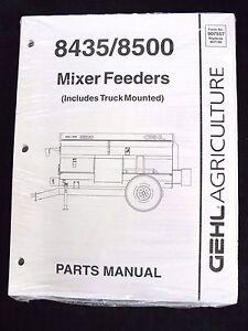 Gehl 8435 8500 Mixer Feeders Dealer/'s Parts Book Manual BVPA