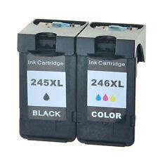 2 PK Ink Cartridge Set For Canon Black & Color 245XL 246XL PIXMA MG2520 Printer