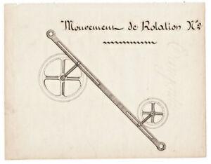 1880-math-manuscript-document-handmade-rotational-movement-device-llustration