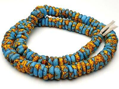 Altglas Pulverglas Perlen Afrika Linsen Scheiben Discus recycelte upcycling bunt