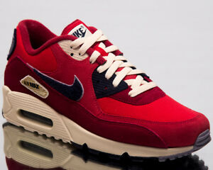a8e2f27129e5 Nike Air Max 90 Premium SE Men Lifestyle Shoes University Red 858954 ...