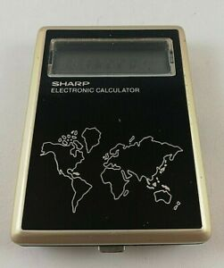 Vintage-SHARP-Electronic-Calculator-CT-550-Japan-Made-Clock-World-Time-Zones