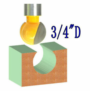 """1pc 1/2"""" SH 3/4"""" Diameter Plunging Ball End Router Bit S"""